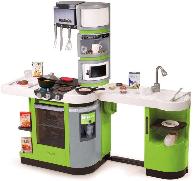 SMOBY Kuchnia Cook Master Zielona  Zestawy sklepowe i domowe zabawki dla dzi   -> Kuchnia Dla Dziecka Od Jakiego Wieku