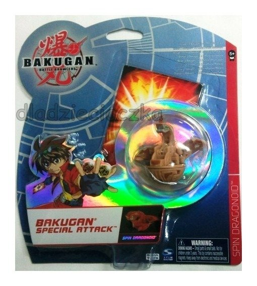 BAKUGAN atak specjalny SPIN DRAGONOID BROWN