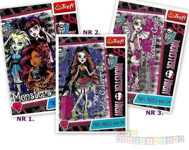 Puzzle Mini, Monster High III 54el. 54121
