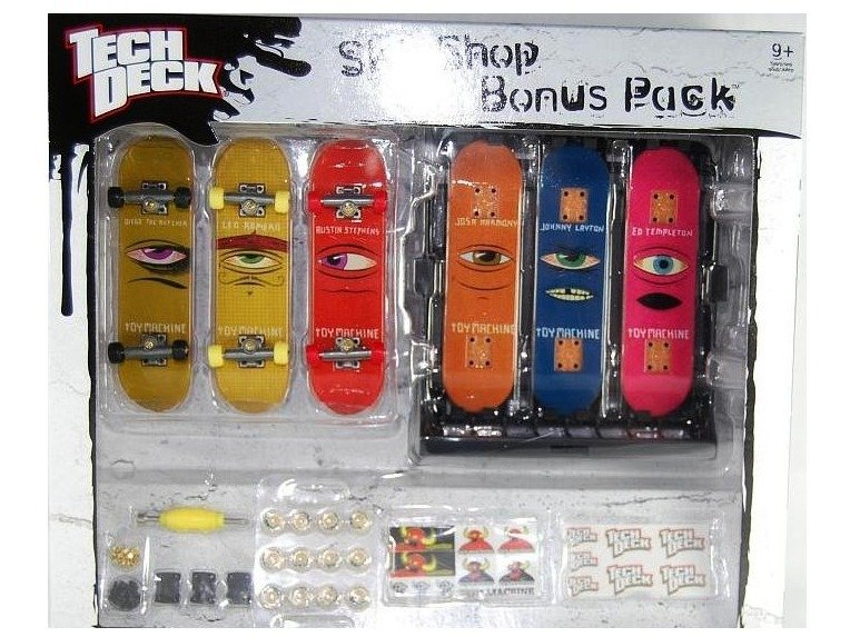 Tech Deck zestaw Skateshop TOY MACHINE 6 desek