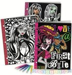 WELWETOWE TECZKI MONSTER HIGH + FLAMASTRY