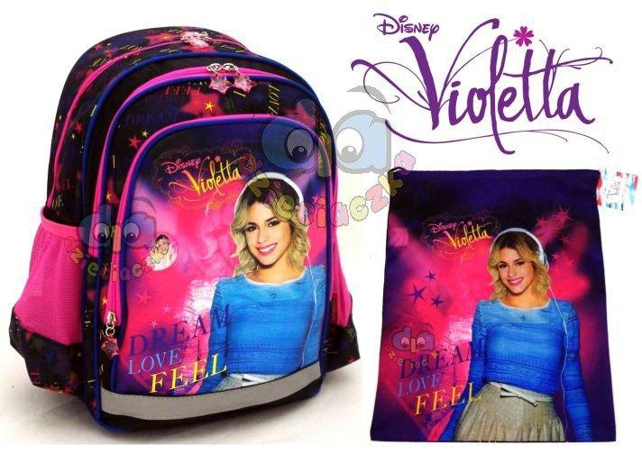 Nowość ZESTAW: Plecak szkolny + worek DREAM, LOVE, FEEL Violetta 21 WA26