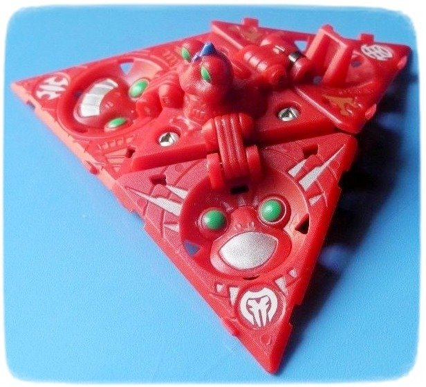 BAKUGAN PUŁAPKA trap TRIPOD EPSILON RED + karty