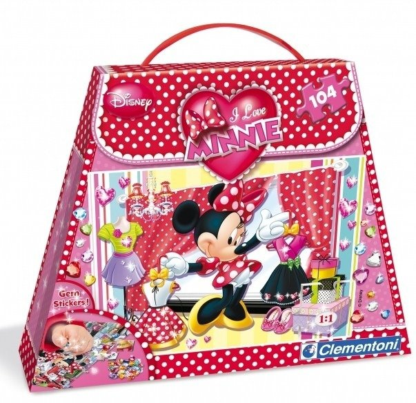 CLEMENTONI PUZZLE 104 EL. MINNIE I LOVE SHOPPING
