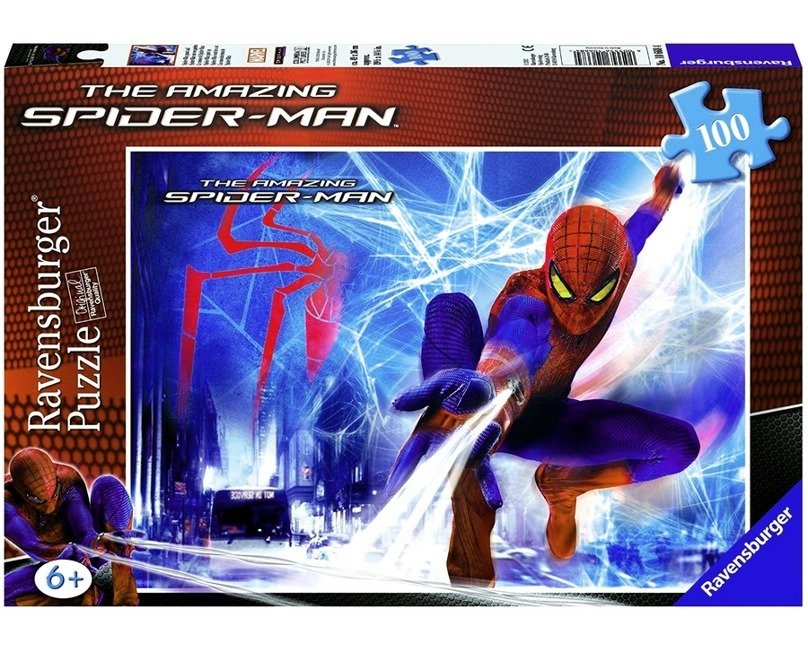 Puzzle 100 el.  Uwaga Spiderman Rvensburger